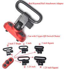 Red_6 QD Sling Swivel Mount Stud Attachment Adapter Set for Keymod Rail System