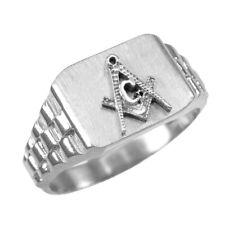 925 Sterling Silver Masonic Mens Ring