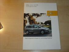 17288) Opel Zafira CNG Prospekt 2002