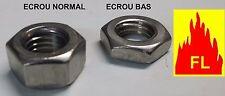 Ecrou inox A2  H héxagonal  BAS  /  PAS A GAUCHE ET PAS A GAUCHE BAS