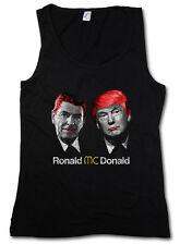 RONALD VS. DONALD TANK TOP Regan USA Trump President Anti Stars Stripes US