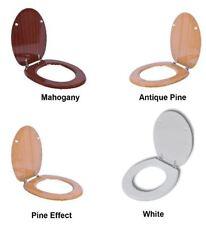 NUOVO Universale Heavy Duty in legno MDF tavoletta per WC con cerniere cromate Anti Batterico