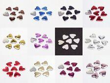 100 Hotfix Herzen Herz 6mm Farbwahl Nailheads Bügel-Nieten zum Aufbügeln