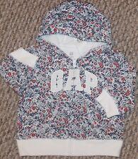 New! Baby Girls GAP Floral Jacket (Hoodie; Full-Zip) - Size 3-6, 6-12, 18-24 mo