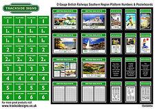 British Railways Southern Region Platform Numbers & Advertising Posters O Gauge