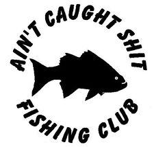 Fishing Club Fish Funny Car Boat Decal Vinyl Sticker Hunting Fishing iPad Window