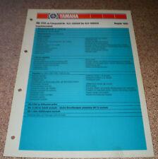Inspektionsblatt Yamaha RD 350 Typ 4L0 Baujahr 1980