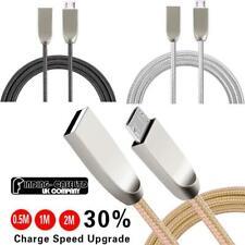 Trenzado de Nylon Micro USB Charging Data Sync Cargador Cable para varios teléfonos