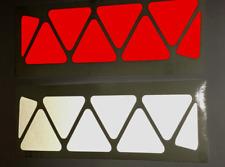 Reflective TRIANGLE x 8 Self Adhesive Stickers Bike/ Car /Buggy Pram/ Vans