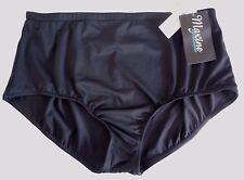Maxine of Hollywood Black Swimsuit Bottom Pant Plus Choose Size Tummy Control