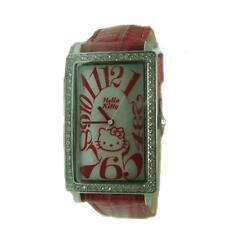 OROLOGIO HELLO KITTY DONNA ZR24555 Acciaio Pelle Rosso Acciaio Lady Watch Tempo