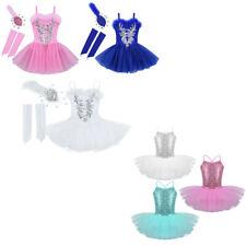 Ballettkleid Pailletten Kleid für Kinder Spaghetti-Träger Glitzer Tanzkleider