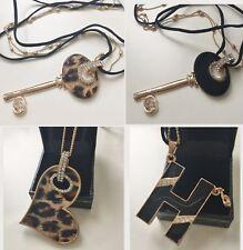 New GP Jewelry Girl Woman Necklace Sparkling Crystal - Enamel Key H Heart JG37