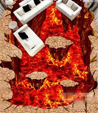 3D Flamme 07 Fond d'écran étage Peint en Autocollant Murale Plafond Chambre Art
