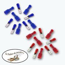 Cosses électriques à sertir mâle/femelle - 4.8 mm  - 14/16 - 18/22 AWG