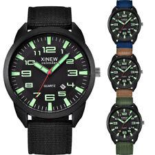 Nylon Strap Mens Simple Calendar Luminous Dial Watch Outdoor Dress Quartz Watch