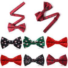 Christmas Bow Tie Festival Santa Claus Snowflake Men Fashion Bowtie Adjustable