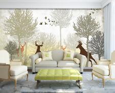 3D Tree Deer 722 Wallpaper Mural Paper Wall Print Wallpaper Murals UK
