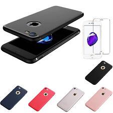 ULTRA SLIM TPU Schutzhülle iPhone 7 / 8 Hülle Case Silikon mattSoft + Panzerglas