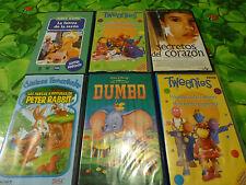6 Cassettes vidéo pour enfant,en Espagnol