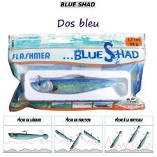 FLASHMER : BLUE SHAD DOS BLEU : Un shad souple anti accroche, aromatisé, texan