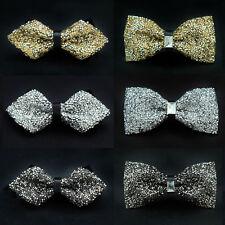 Mens Luxury Shining Crystals High Quality Bowtie Rhinestone Wedding Bow Ties