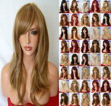Auburn Blonde Fashion medium real natural straight Women's Adult Wavy Hair Wigs