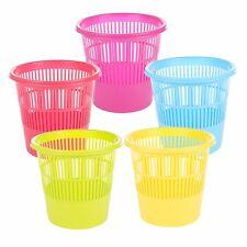 Grande Colorido Plástico residuo CESTO CASA Metal Papelero basura Trash NUEVO