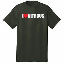 I LOVE NITROUS T-shirt car racing NX NOS turbo motorhead performance parts