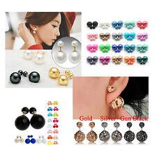 doppio orecchini di perle SFERE GRANDE & PICCOLI molti modelli