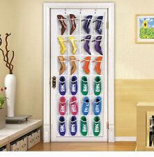 24 Pockets Shoe Toy Rack Wardrobe Over Door Hanger Shelf Storage Bag Organizer