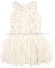 Biscotti Girls' Filigree Splendor Ivory Drop Waist Dress, Sizes 18M-16