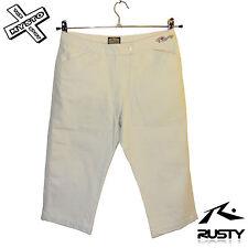 """Rusty Pantalones cortos para mujer Capri 3/4 Pantalones De Cemento Grande 30"""" Cintura Surf BNWT"""