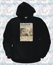 FELPA FACEBOOK VINTAGE social network internet t-shirt maglia FB maglietta NERA