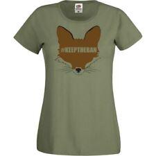 Ladies Olive Green Keep The Ban T-Shirt Shirt Fox Hunting #keeptheban