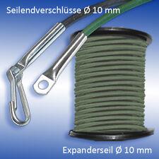 Expanderseil Ø 10 mm olivegrün olivgrün Seil Planenseil Gummiseil für Anhänger