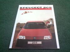 1986 Model Year PEUGEOT 205 inc XT GT - 9/85 UK 32 page COLOUR BROCHURE