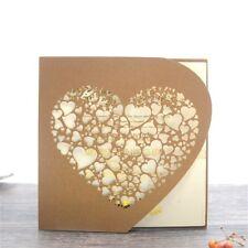 Personalised Laser Cut Wedding Day Evening Invitation Card Envelopes Inner Card