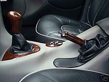 Se adapta a Rover 75 Negro Gear & Freno De Mano Gaitor Cuero Negro