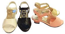 Vestido de Boda Infantil Niñas Tacón Bajo Dama De Honor Cierre Táctil Sandalias tamaño de zapato