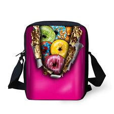 Women's Fashion Donut Casual Messenger Bag Handbag Purse Kids Outdoor Satchel