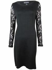 Jessica Howard Women's Lace Sleeves Boat Neck Knit Dress