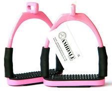 AMIDALE OFFSET EYE FLEXI SAFETY STIRRUPS FOR OPTIMUM LEG POSITION HORSE RIDING