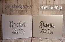 Vinyl wedding Name/Role Stickers Vinyl Application Gift Box Personalisation