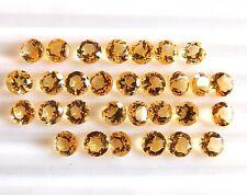 Natural Citrine Round Cut Lot Loose Gemstone Citrine 6 mm Wholesale Lot C-1987