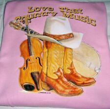 """"""" Love That Country Music""""   Gildan Fleece Long Sleeve Crew Neck Sweatshirt"""