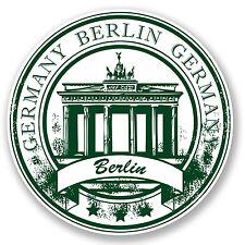 2 x Berlin Germany Vinyl Sticker Car Travel Luggage Tag Flag Map Gift Fun #4522