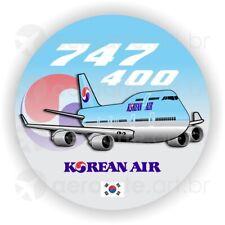 Boeing 747-400 Korean Air aircraft round sticker