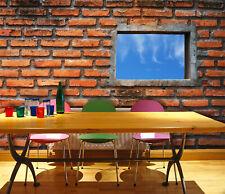 3D Bricks Window 314 Wall Paper Wall Print Decal Wall Deco Indoor AJ Wall Paper