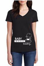 V-Neck Baby Loading Pregnancy Shirt Pregnant Women Baby Shower Tee Gift For Her